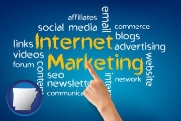 internet marketing phrases - with Arkansas icon
