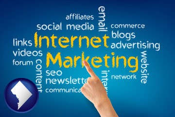 internet marketing phrases - with Washington, DC icon