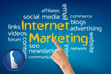 internet marketing phrases - with Delaware icon