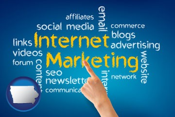 internet marketing phrases - with Iowa icon
