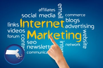 internet marketing phrases - with Massachusetts icon