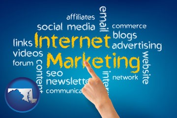 internet marketing phrases - with Maryland icon