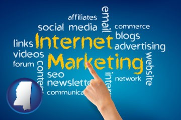internet marketing phrases - with Mississippi icon