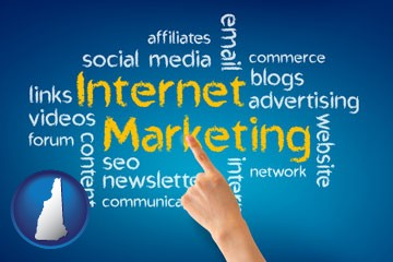 internet marketing phrases - with New Hampshire icon
