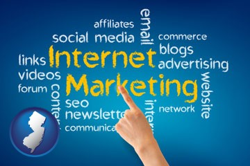 internet marketing phrases - with New Jersey icon