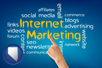 internet marketing phrases - with Nevada icon