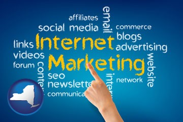 internet marketing phrases - with New York icon
