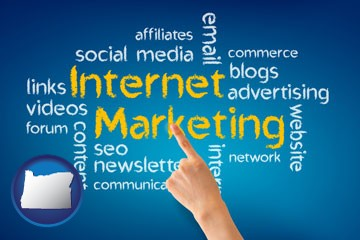 internet marketing phrases - with Oregon icon