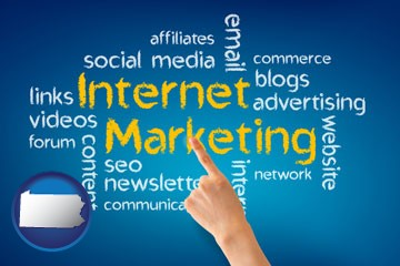 internet marketing phrases - with Pennsylvania icon