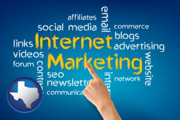 internet marketing phrases - with Texas icon