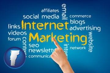 internet marketing phrases - with Vermont icon