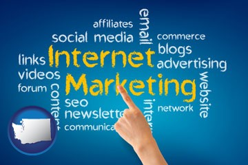 internet marketing phrases - with Washington icon