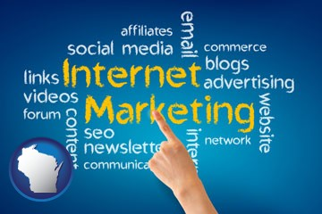 internet marketing phrases - with Wisconsin icon