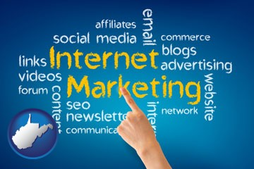 internet marketing phrases - with West Virginia icon